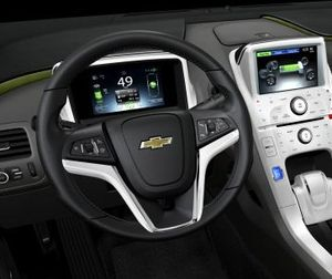 Volt instrument panel closeup