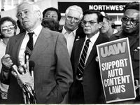 """Domestic content"" was a major talking point for both the UAW and the Detroit automakers that UAW members worked for."